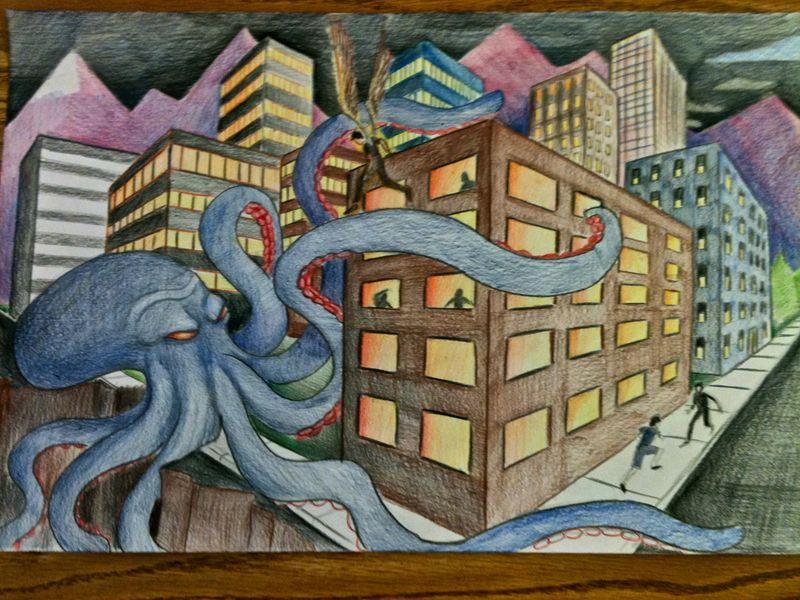 Surreal City! coloring #7, Download drawings