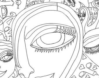 Surrealism coloring #5, Download drawings