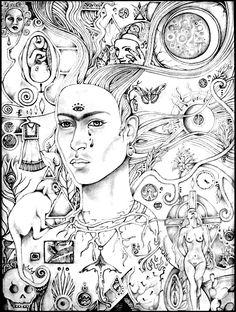 Surrealism coloring #17, Download drawings