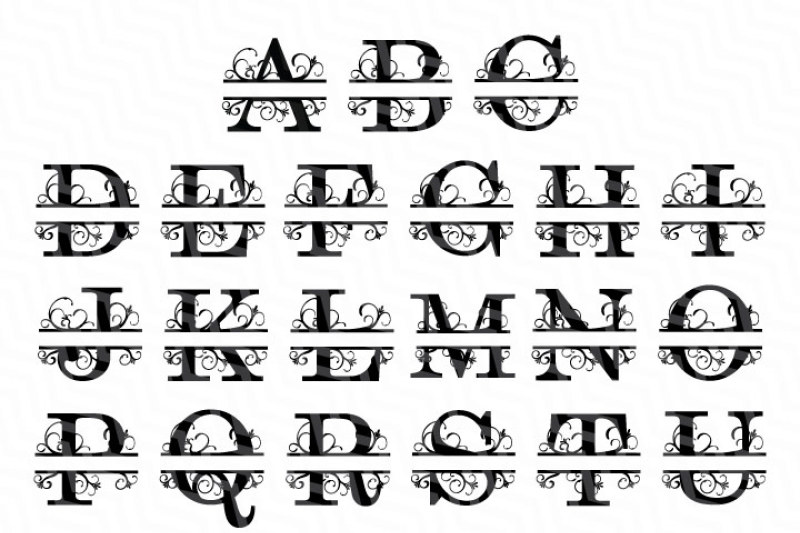 svg letters #989, Download drawings