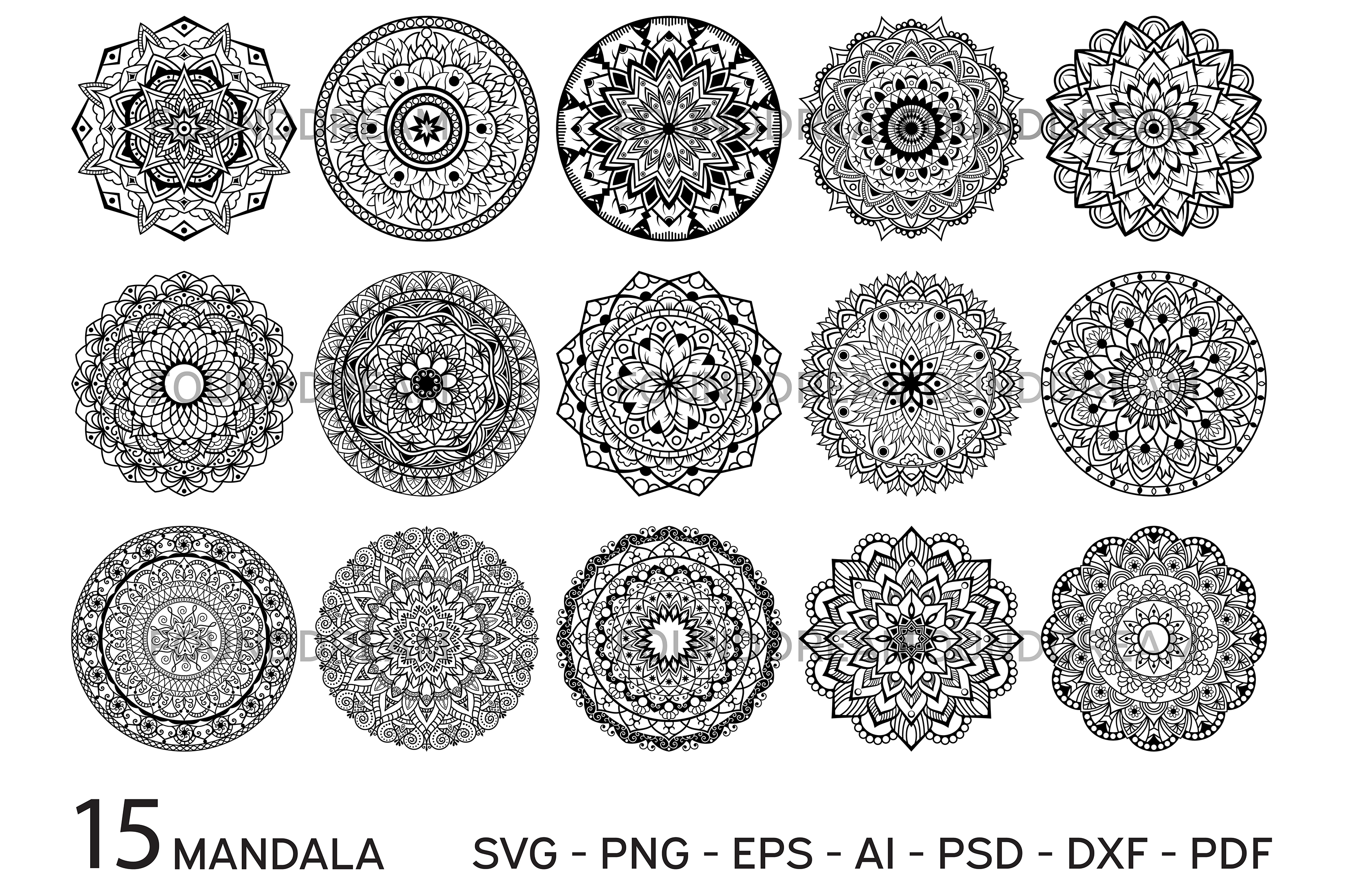 svg mandala #850, Download drawings
