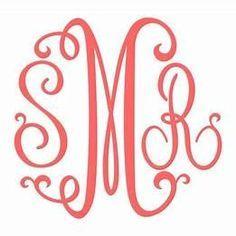 monogram svg files #344, Download drawings