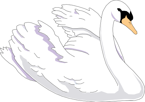 Swan clipart #1, Download drawings