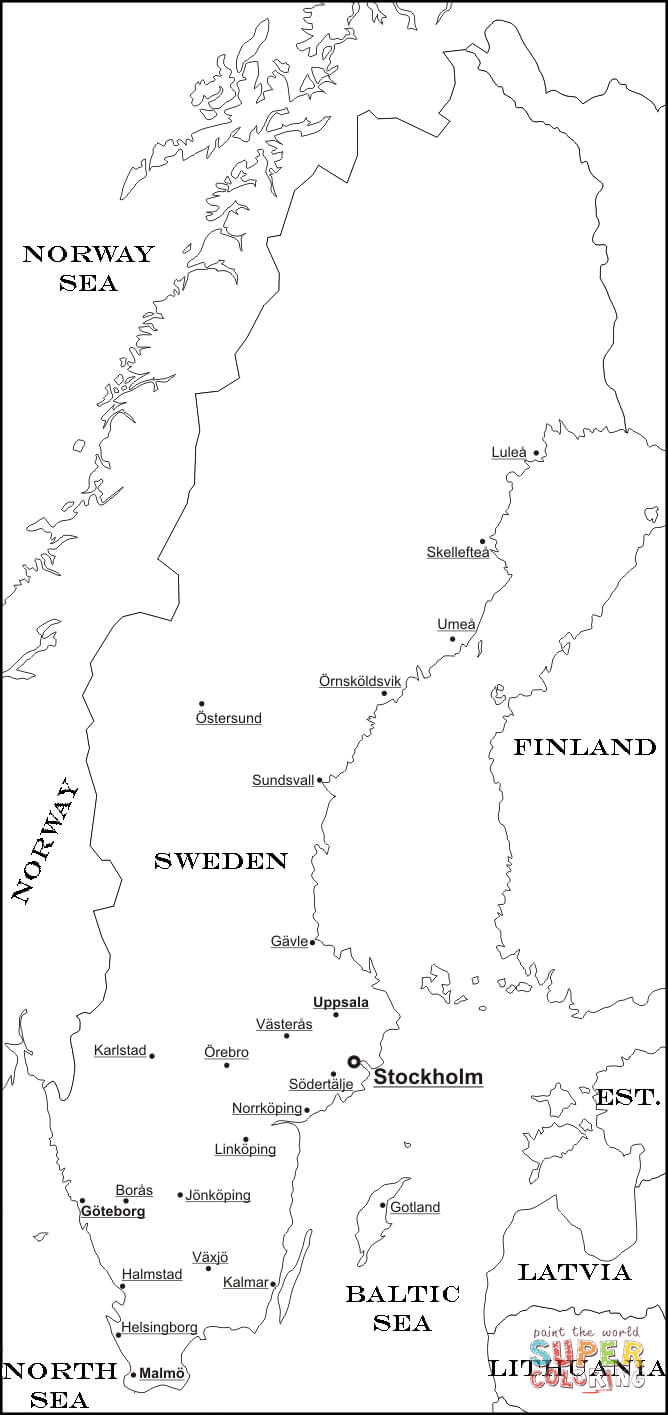 It's just a photo of Universal Scandinavia Map Printable