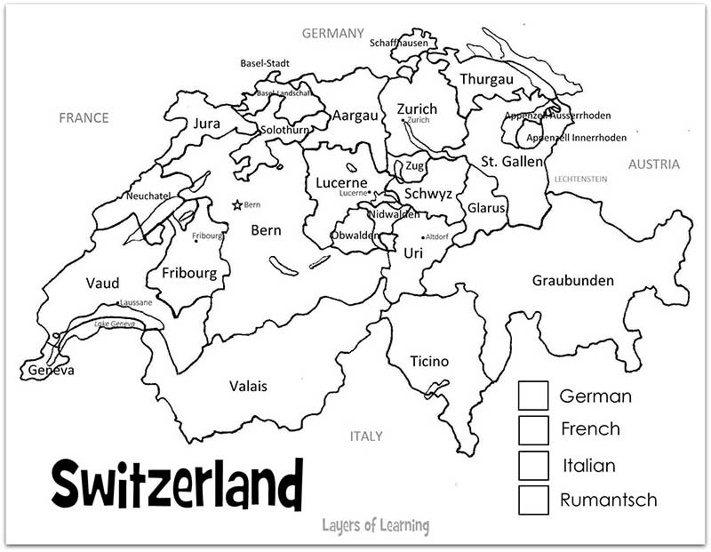 Schwitzerland coloring #8, Download drawings