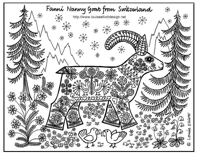 Schwitzerland coloring #3, Download drawings