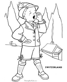 Schwitzerland coloring #13, Download drawings