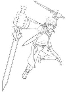 Sword Art Online coloring #3, Download drawings