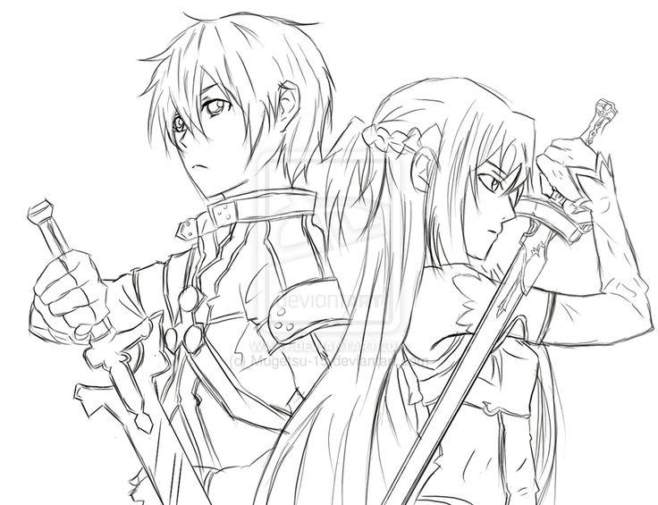 sword art online coloring download sword art online