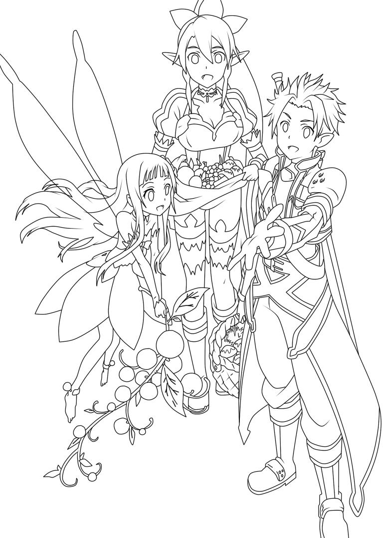 Sword Art Online coloring #10, Download drawings