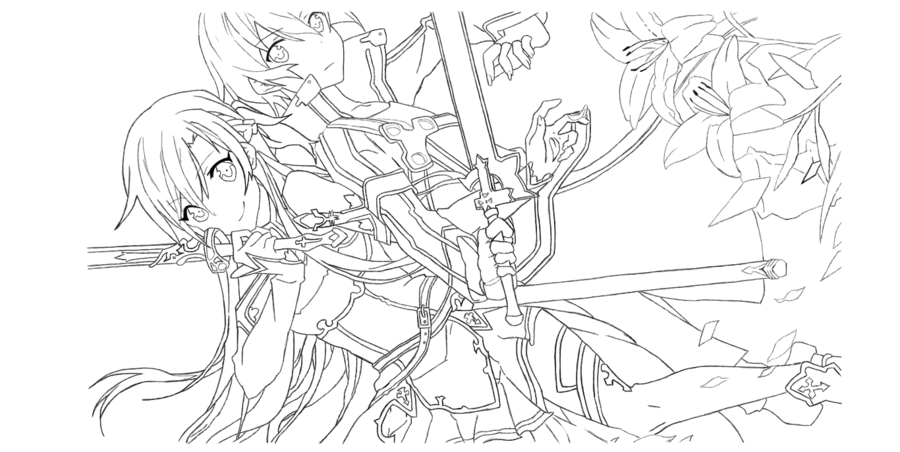Sword Art Online coloring #14, Download drawings
