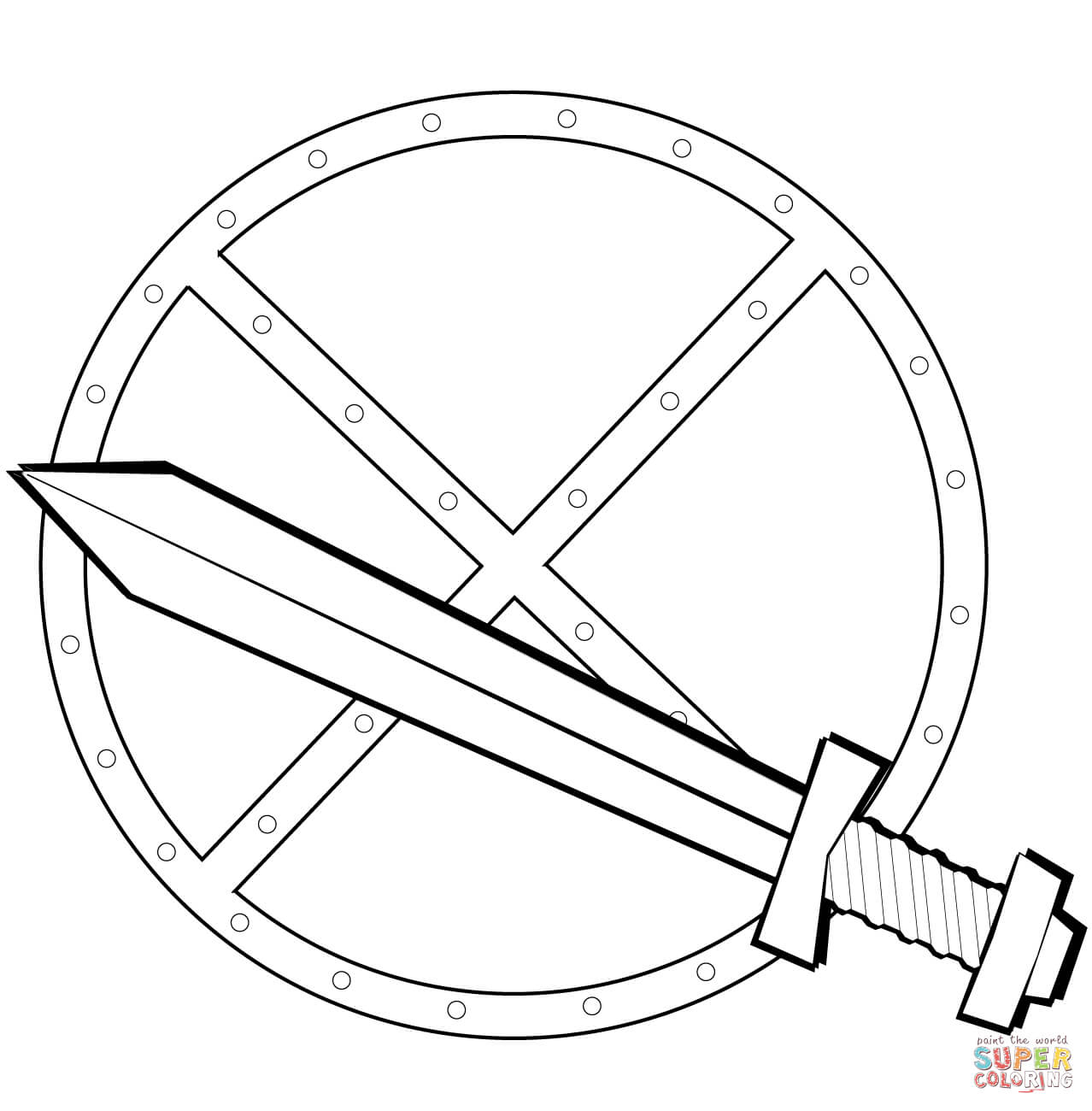 Shield coloring download shield coloring for Ctr shield coloring page