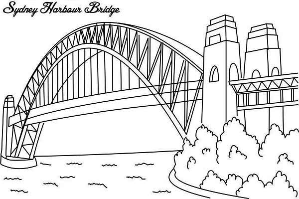 Sydney Harbour Bridge coloring #20, Download drawings