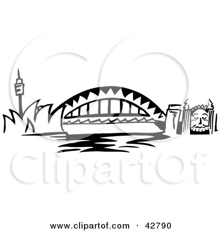 Sydney Harbour Bridge coloring #1, Download drawings