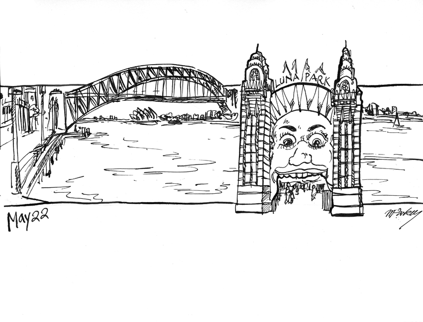 Sydney Harbour Bridge coloring #10, Download drawings