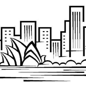 Sydney Harbour Bridge coloring #13, Download drawings