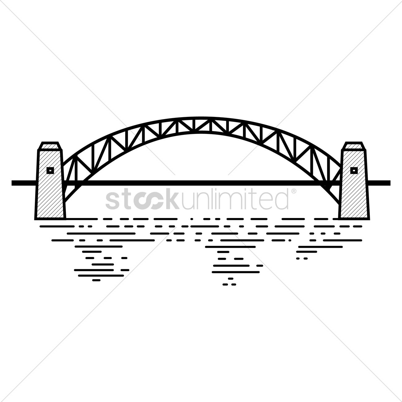 Sydney Harbour Bridge coloring #7, Download drawings