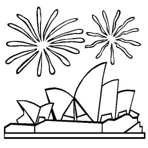 Sydney Harbour Bridge coloring #11, Download drawings