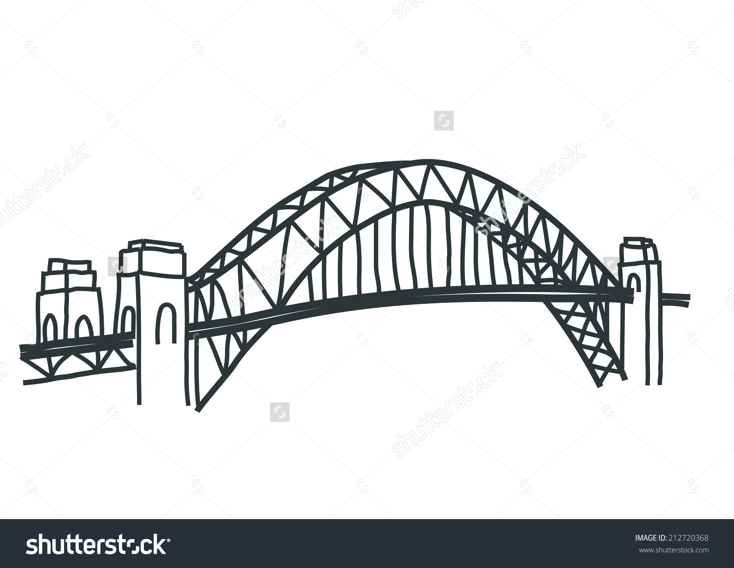 Sydney Harbour Bridge coloring #4, Download drawings