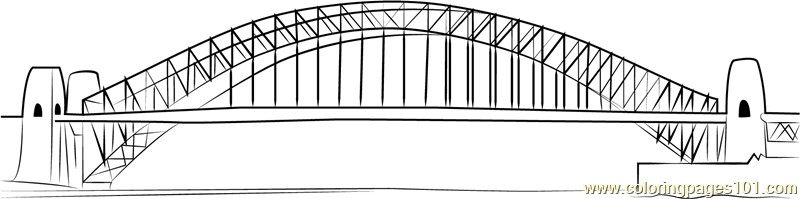 Sydney Harbour Bridge coloring #17, Download drawings