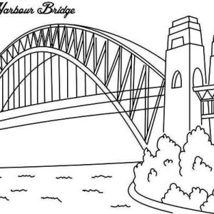 Sydney Harbour Bridge coloring #19, Download drawings