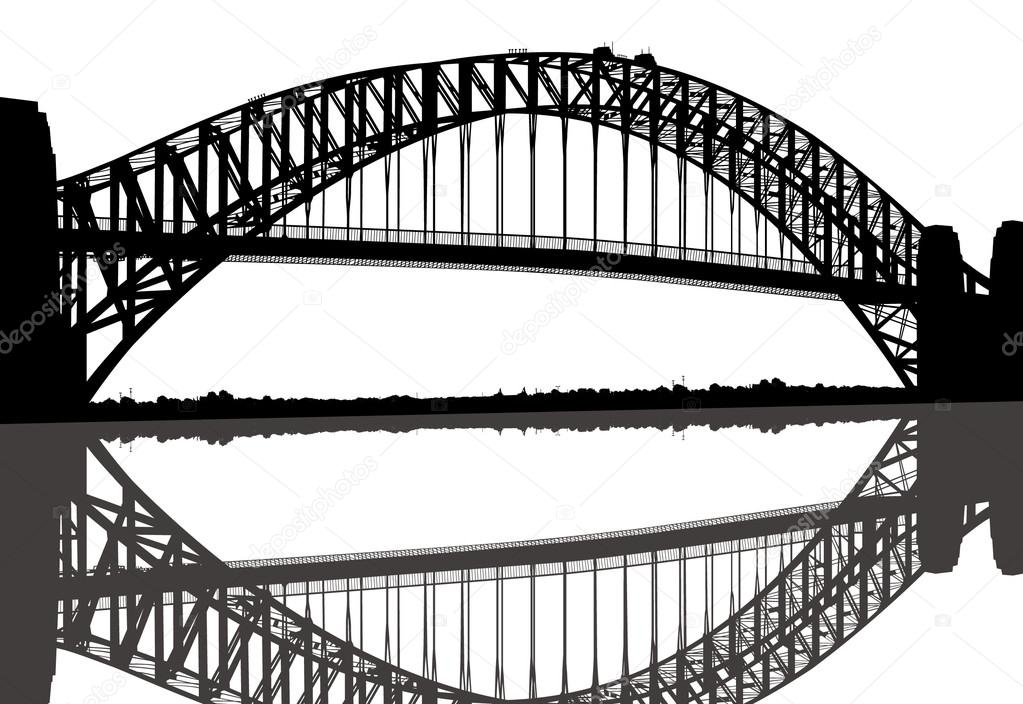 Sydney Harbour Bridge coloring #8, Download drawings
