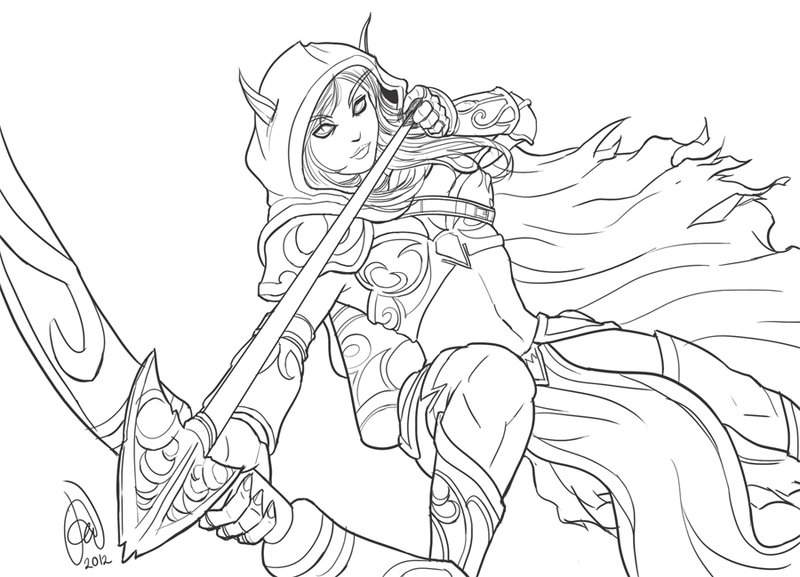 Sylvanas Windrunner coloring #16, Download drawings