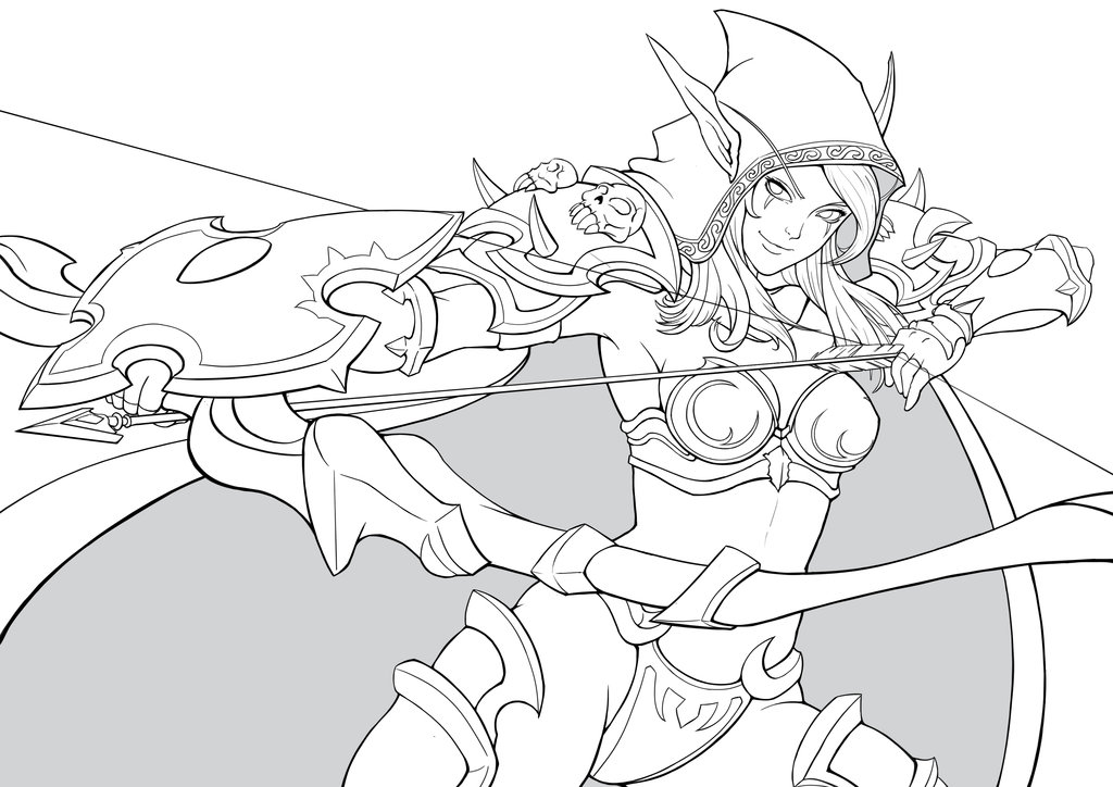 Sylvanas Windrunner coloring #1, Download drawings
