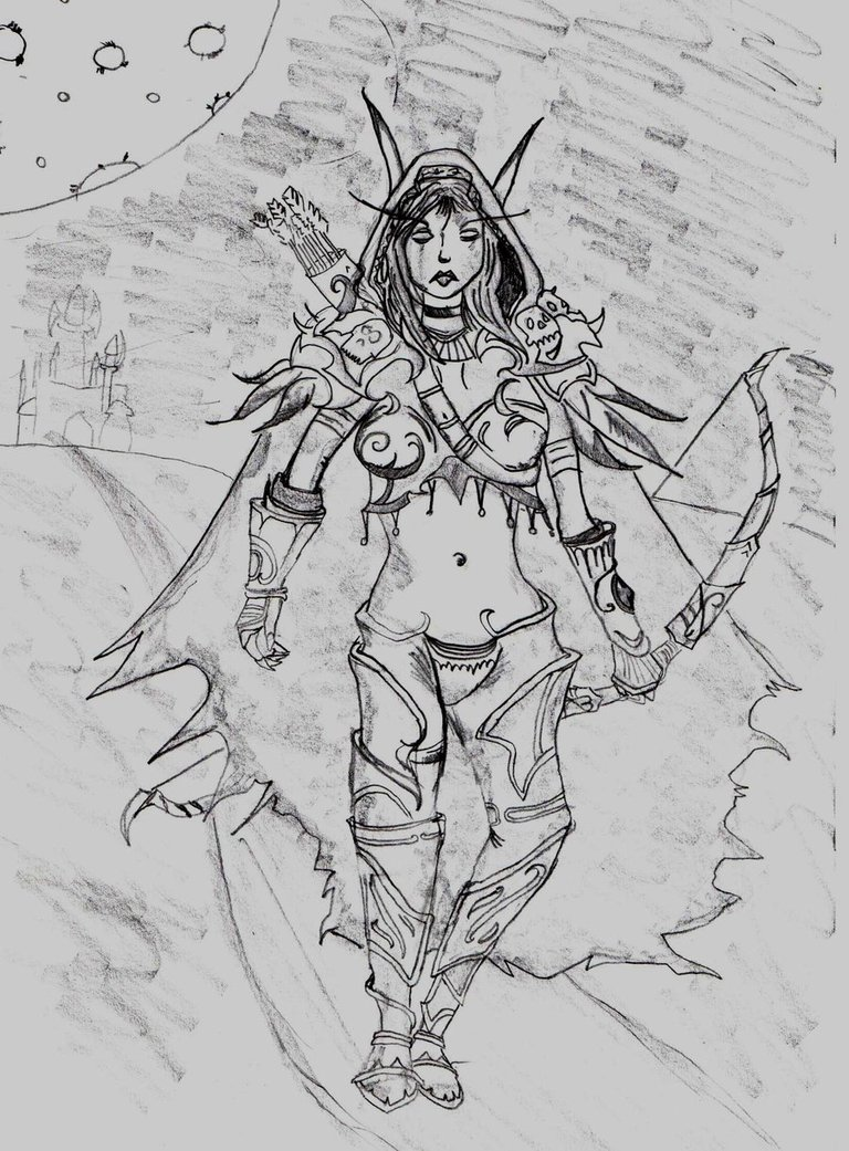 Sylvanas Windrunner coloring #13, Download drawings