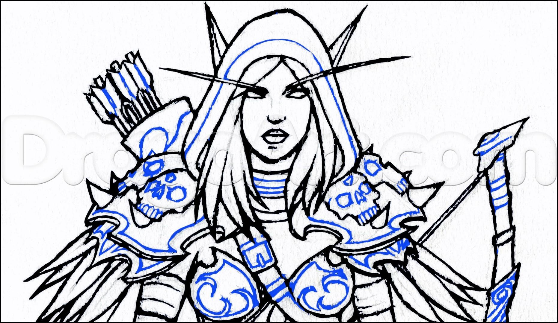 Sylvanas Windrunner coloring #14, Download drawings