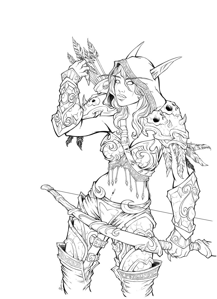 Sylvanas Windrunner coloring #3, Download drawings