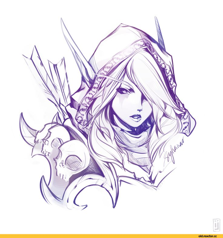 Sylvanas Windrunner coloring #17, Download drawings
