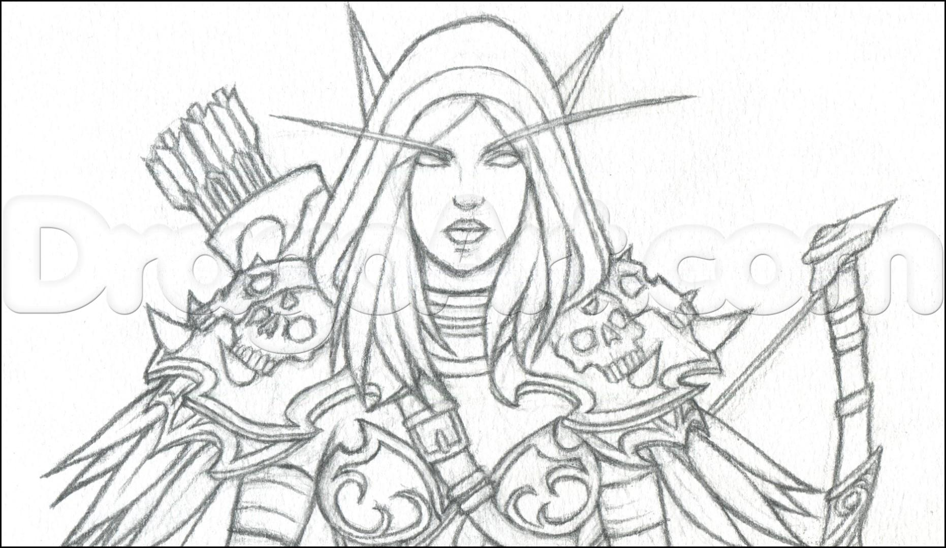 Sylvanas Windrunner coloring #19, Download drawings