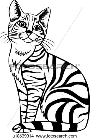 Tabby Cat clipart #12, Download drawings