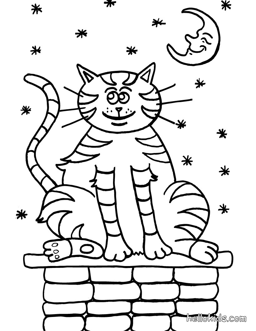 Tabby Cat coloring #16, Download drawings