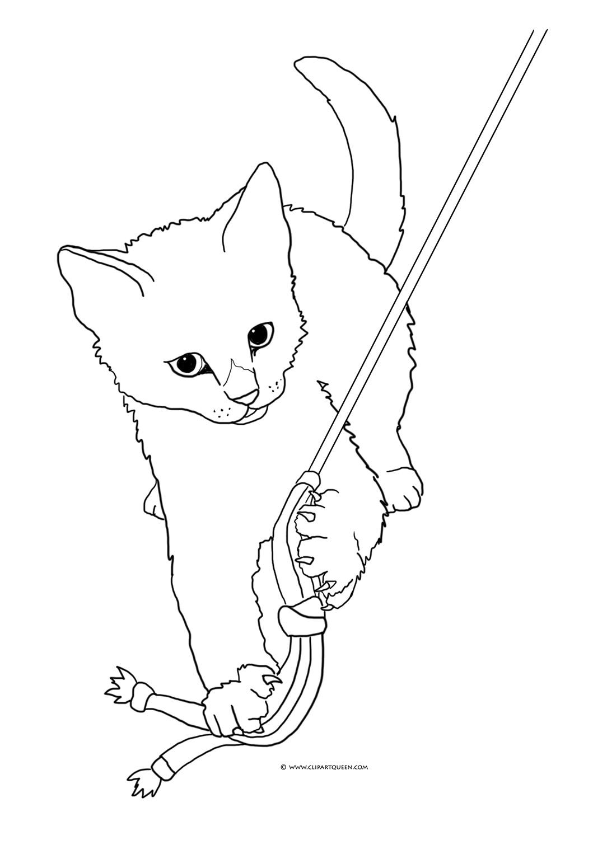 Tabby Cat coloring #15, Download drawings