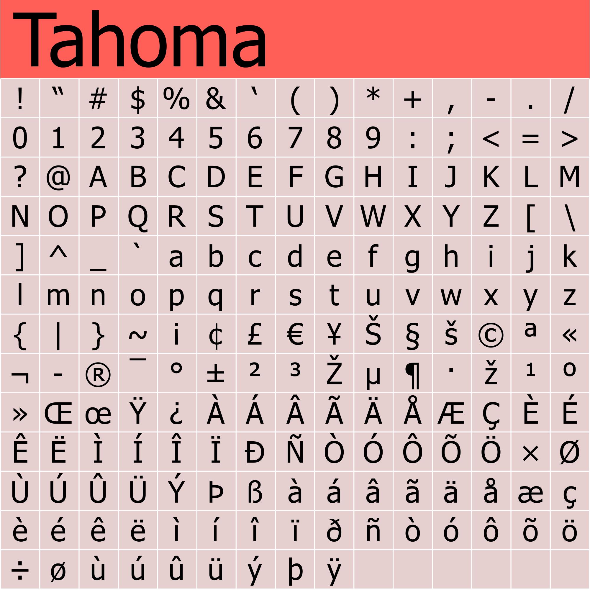 Tahoma svg #13, Download drawings