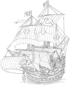 Tall Ship coloring #4, Download drawings