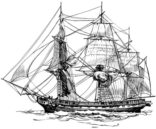 Tall Ship coloring #2, Download drawings