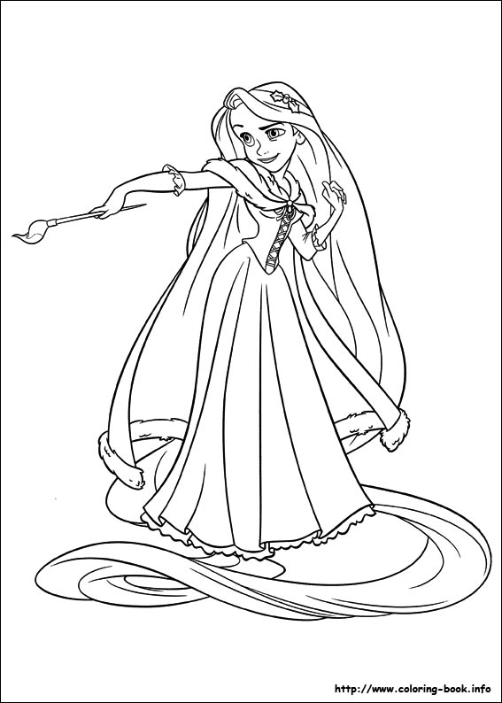 Tangled coloring #7, Download drawings