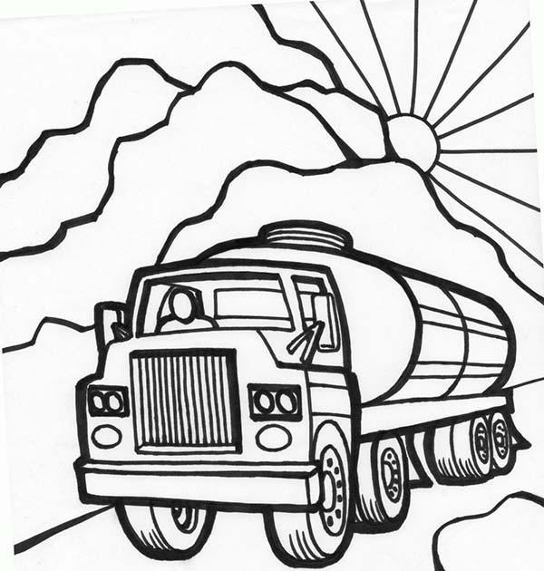 Tanker coloring #11, Download drawings