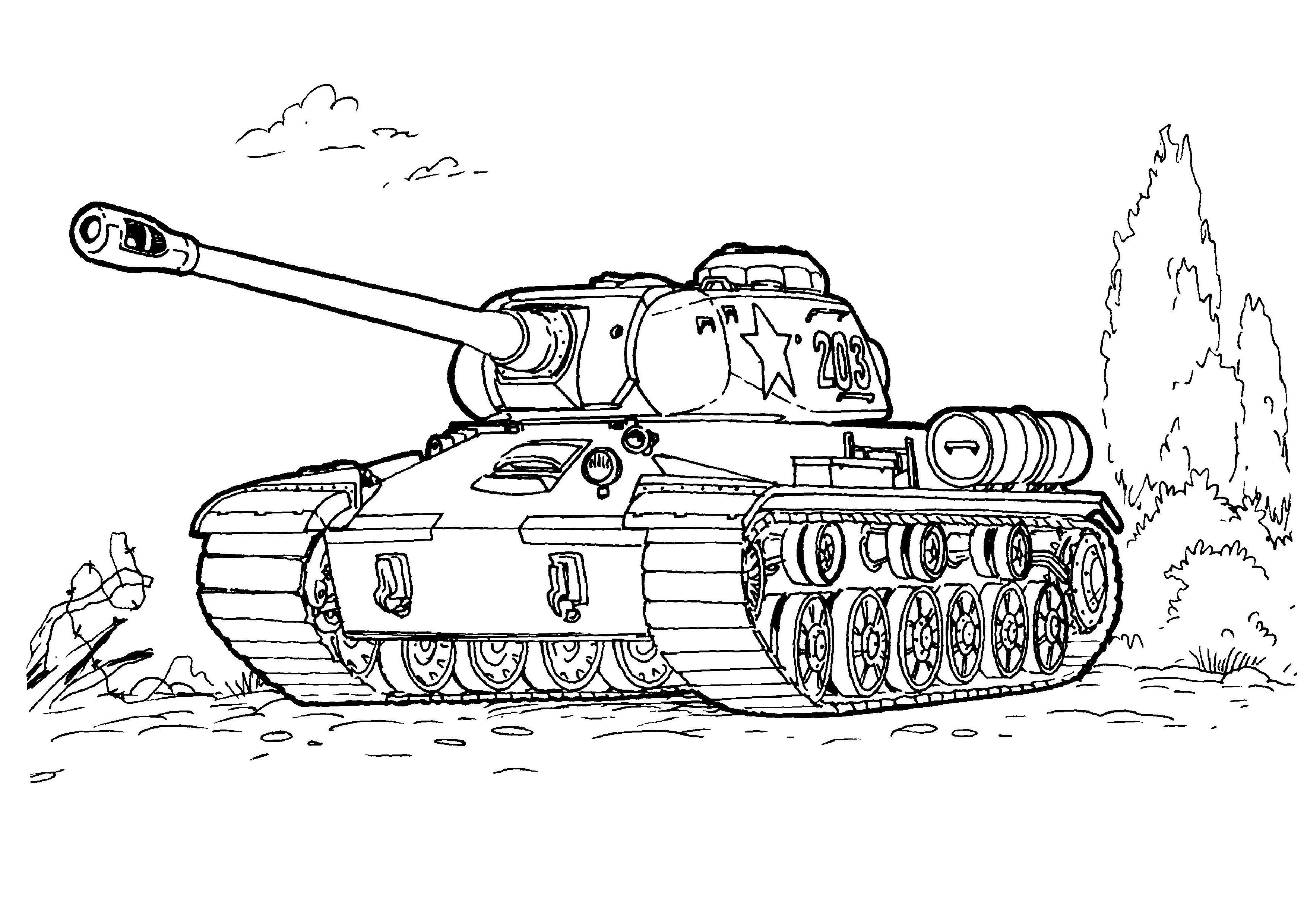 Tanker coloring #3, Download drawings