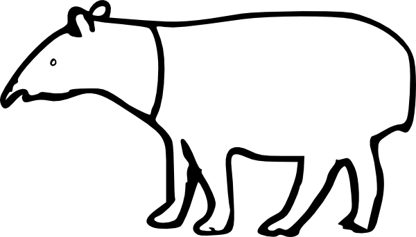 Tapir clipart #8, Download drawings