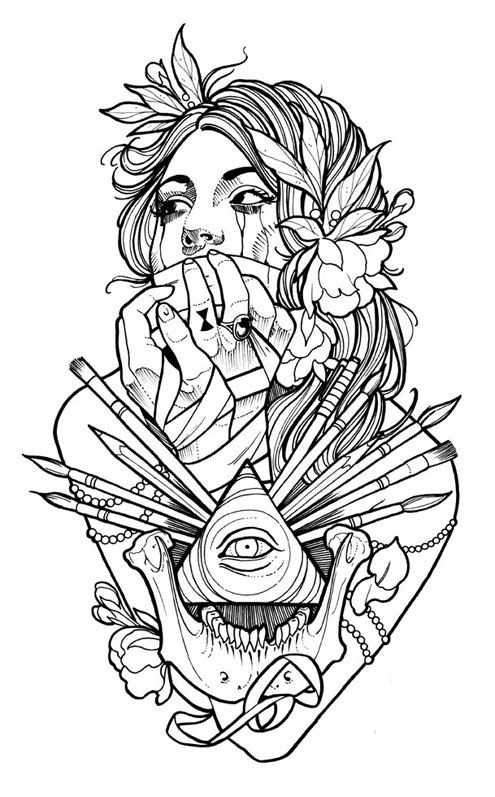 Tattoo Coloring Download Tattoo Coloring