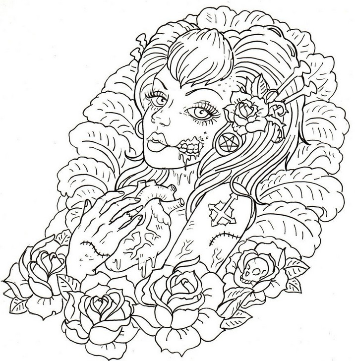 Tattoo coloring #2, Download drawings