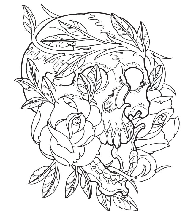 Tattoo coloring #6, Download drawings