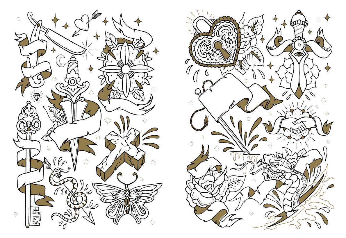 Tattoo coloring #5, Download drawings