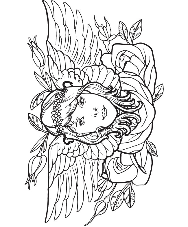 Tattoo coloring #16, Download drawings
