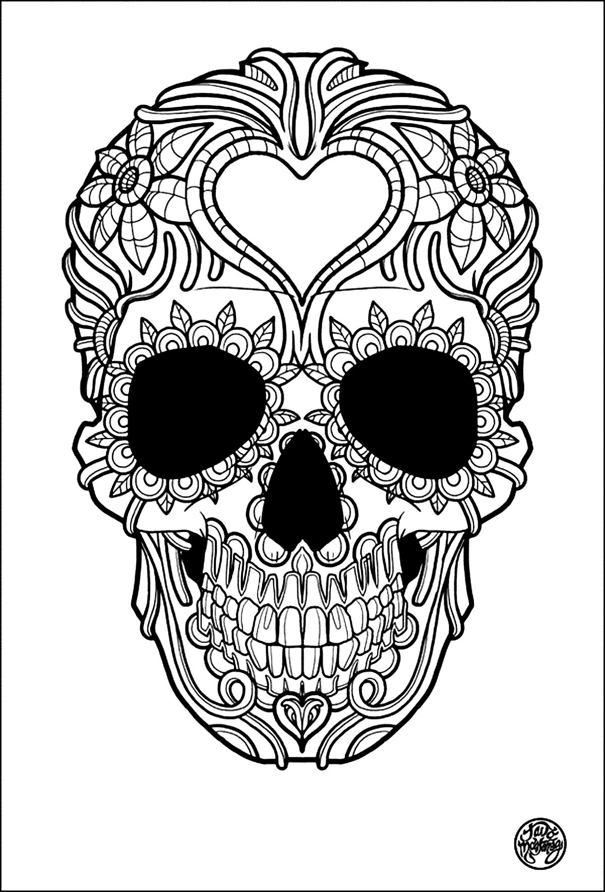 Tattoo coloring #9, Download drawings