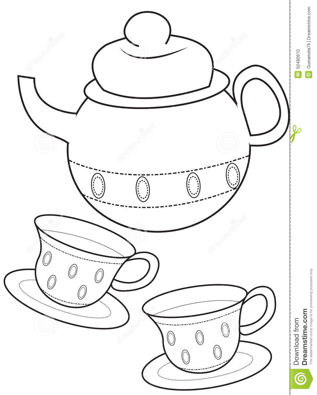 Tea Cup coloring #17, Download drawings